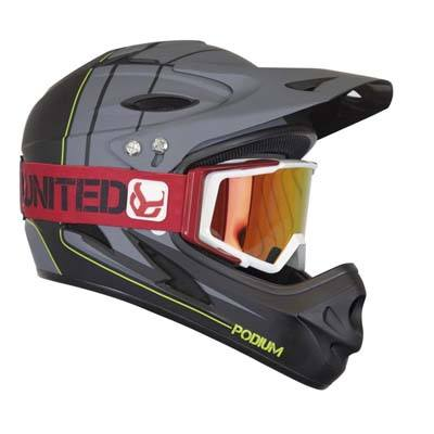 4. Demon Full Face Mountain Bike Helmet with Goggle