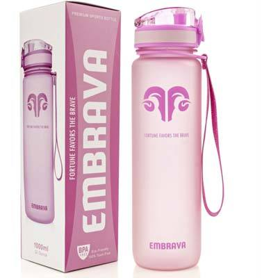 8. Embrava Best Sports Water Bottle – 32oz