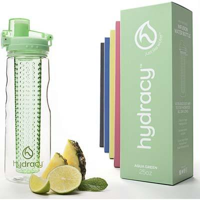 10. Hydracy Fruit Infuser Water Bottle – 25 Oz